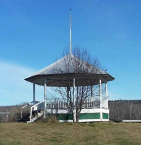 Bandstand in the Town of Athens, Maine.