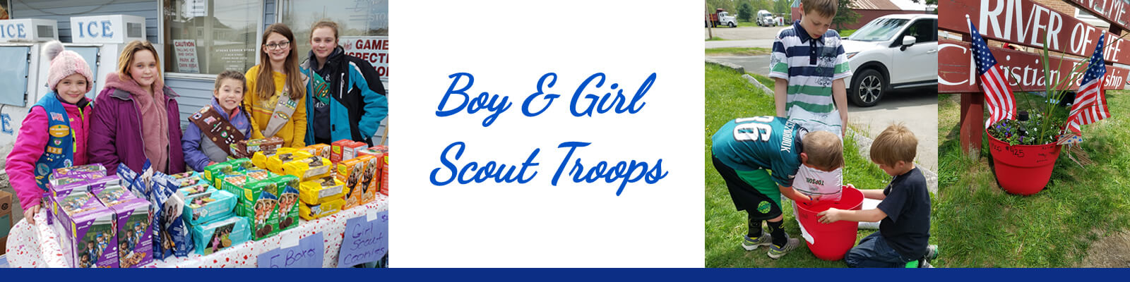 Boy & Girl Scout Troops, Athens, Maine.